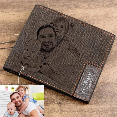 Men's Custom Photo Wallet Birthday Gifts For Dad Husband Son Brother Boyfriend