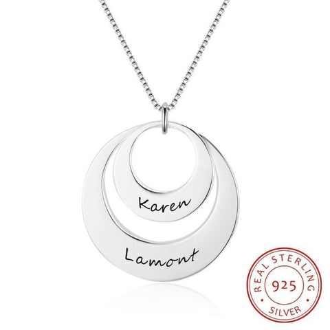 two name necklace - Gifts For Family Online