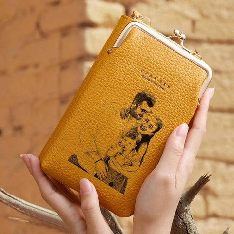 Customized Purse With Photo & Message Engraved Wallets For Women