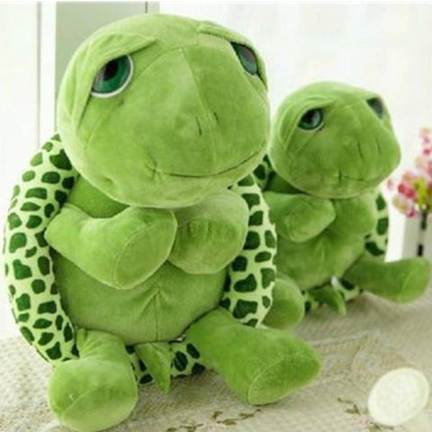 Image of 20cm Army Green Big Eyes Turtle Plush Toy