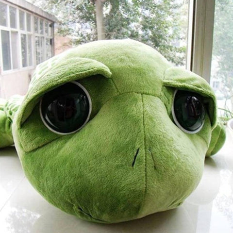 Image of Stuffed Animals Big Eyes Turtle Plush Toys Green