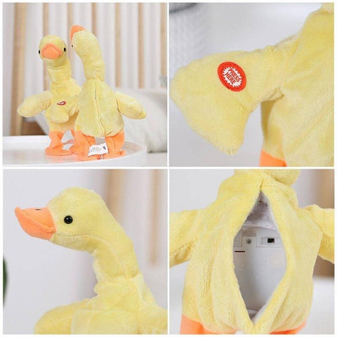 Electric Walking Dancing Duck Plush Toys Battery Powered Funny Toy