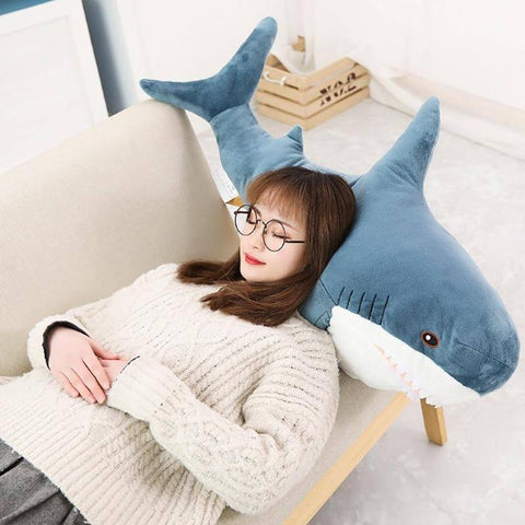 "Big Size Shark Plush Stuffed Toys 31""-39"" Gift For Kids"