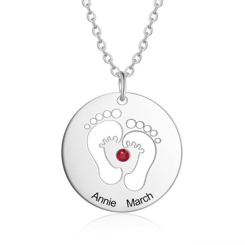 Image of baby feet necklace - Gifts For Family Online