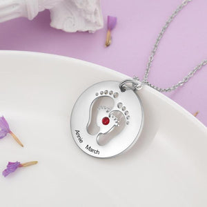 Engraved Baby Feet Pendant - Gifts For Family Online