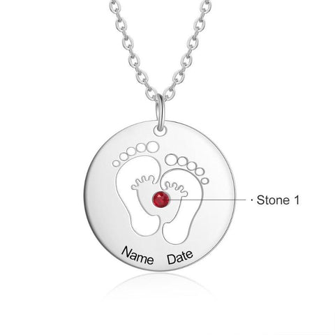 Image of baby footprint jewelry - Gifts For Family Online