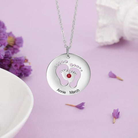 Image of baby foot pendant - Gifts For Family Online