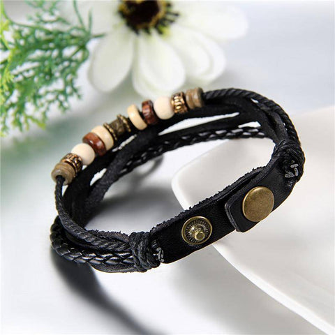 Image of Ying Yang Love Leather Couple Bracelets Set Of Two - Deal Of The Day