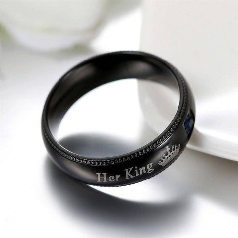 Her King His Queen Matching Couple Ring Set - Gifts For Family Online
