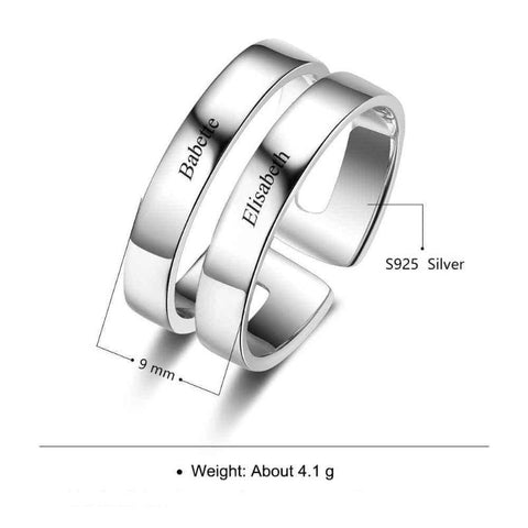 Image of name rings - Gifts For Family Online