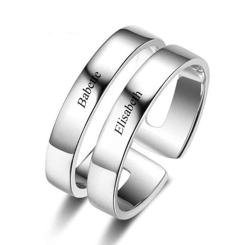 Personalized 2 Names Engraving Anniversary Ring - Gifts For Family Online