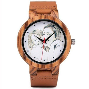 Bamboo Watches For Women Men With Custom Photo - Gifts For Family Online