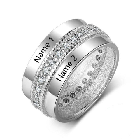 two names ring - Gifts For Family Online