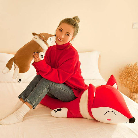 Fox Plush Toy 35-50cm Stuffed Animals Fox Plush Toys for Children Plush Pillow Toys Gift - Gifts For Family Online