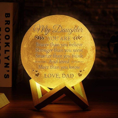 Image of custom moon lamp with picture - Gifts For Family Online