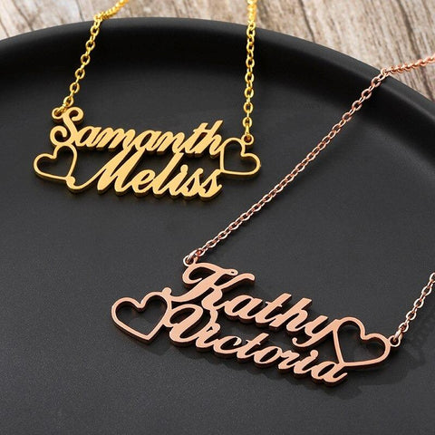 custom 2 name necklace - Gifts For Family Online