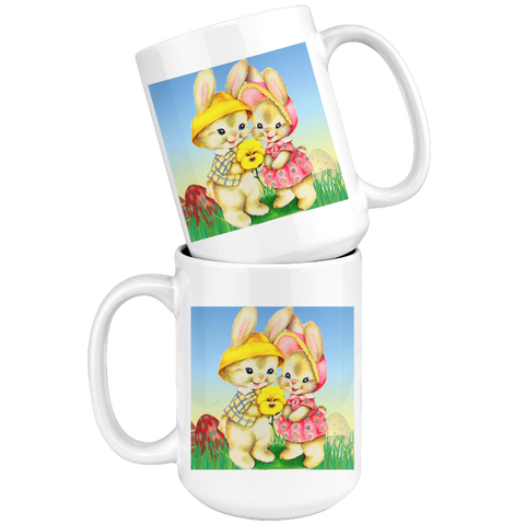 Easter Coffee Mugs Two Cute Bunnies Easter Gifts - Gifts For Family Online