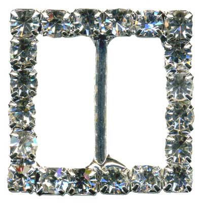 DIAMONTE BUCKLE 25MM SQUARE