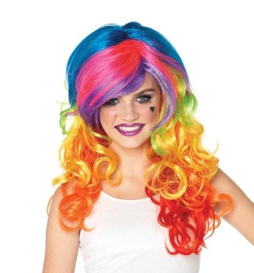 RAINBOW ROCKER MULTI COLOUR WIG