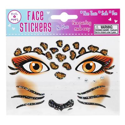 LEOPARD FACE STICKER