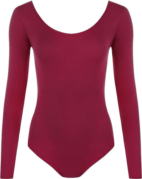 LONG SLEEVE SCOOP LEOTARD