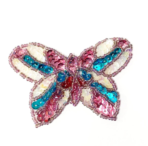 SEQUIN AND BEADED BUTTERFLY MOTIF