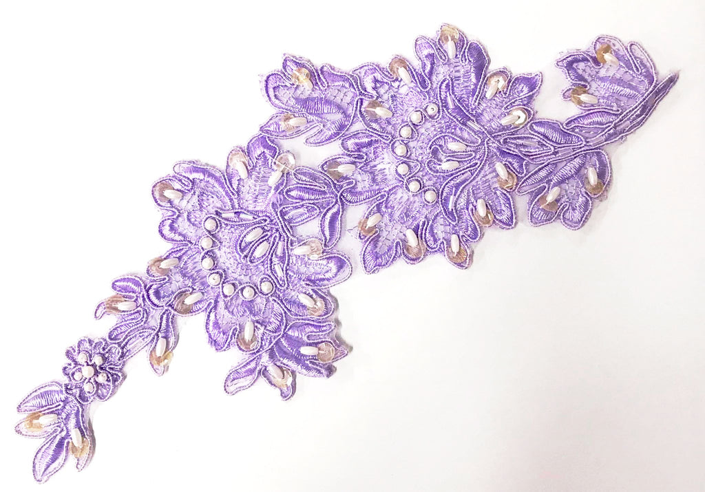 LACE AND BEADED MOTIF