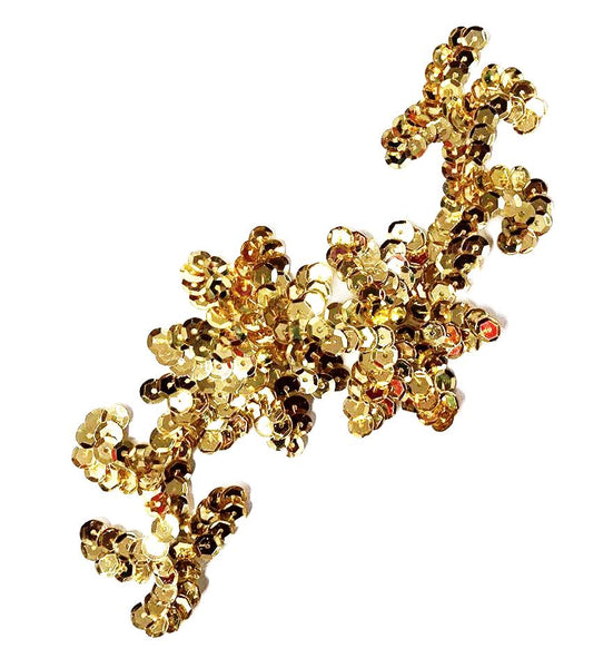 SEQUIN FLOWER VINES NO BOARDER MOTIF