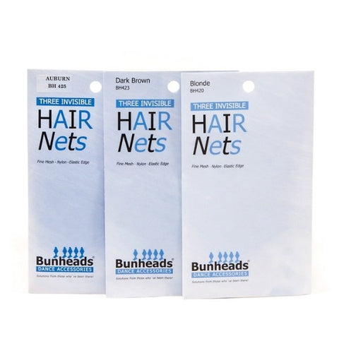 BUNHEADS INVISIBLE HAIR NETS - First Class Dancewear NQ