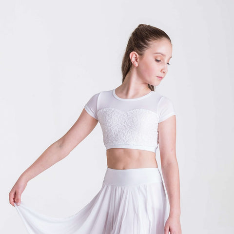 ATTITUDE SEQUIN CROP TOP (CHILDS)