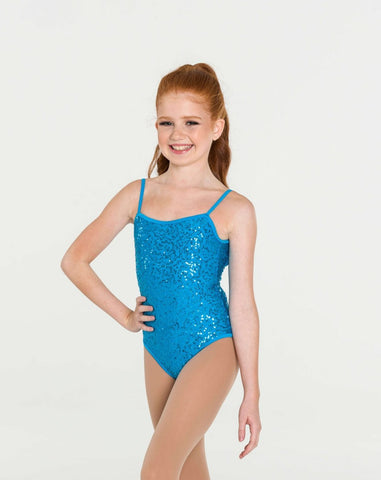 SEQUIN CAMISOLE LEOTARD (CHILDS)