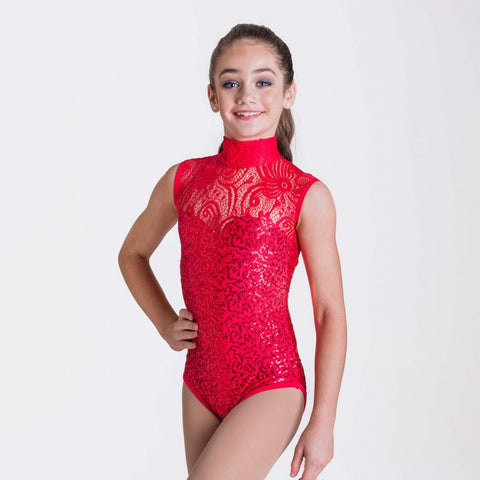 DECO LACE LEOTARD (CHILDS)