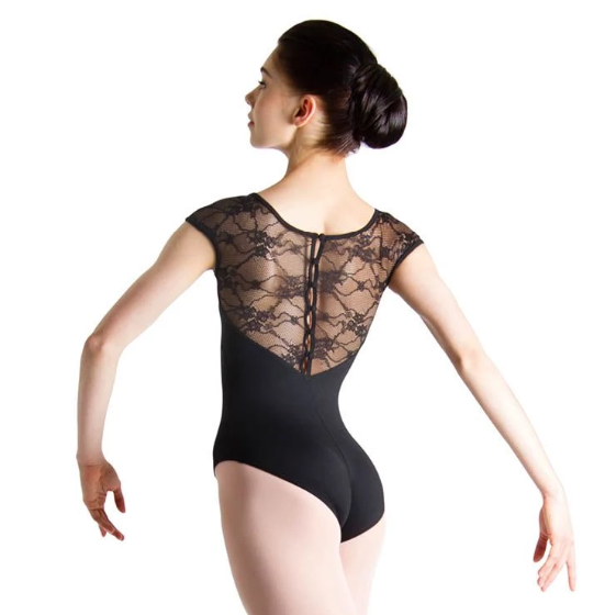 BLOCH CHIWA LACE BUTTON LEOTARD