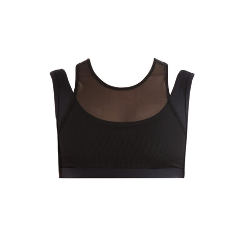MESH LAYERED CROP TOP