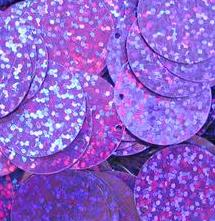 PACKET OF ROUND FLAT SEQUINS 2CM