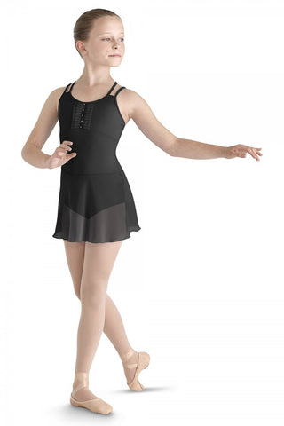 BLOCH PLEATED TULLE SKIRTED LEOTARD