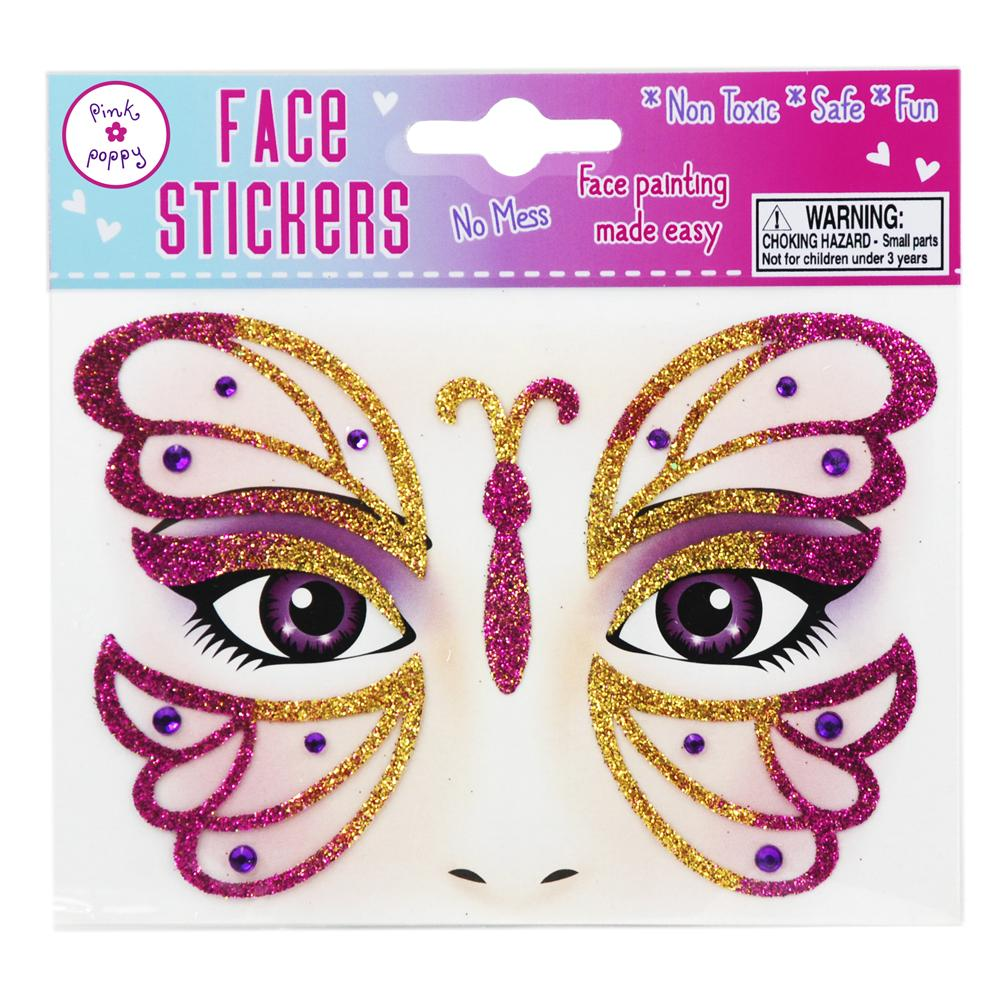 BUTTERFLY FACE STICKER