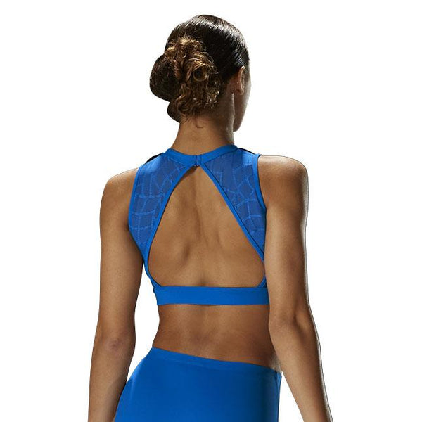 BLOCH MIRELLA MOSAIC HIGH NECK CROP TOP