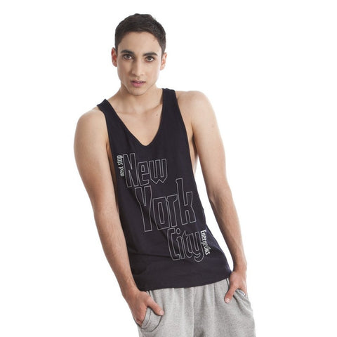 MENS CUT AWAY SINGLET NYC (ADULTS)