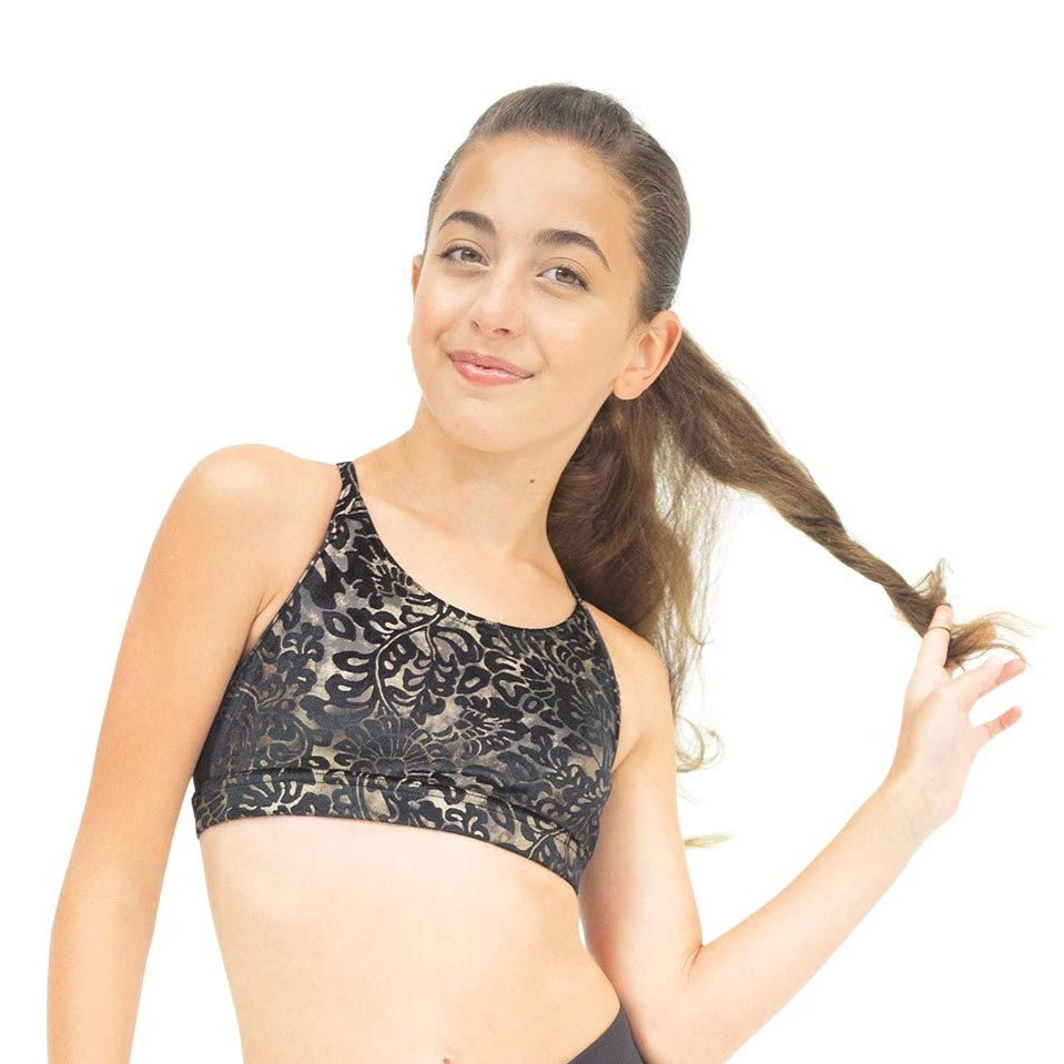 DAMASK CROSS BACK STRAP BRA TOP (TWEENS)
