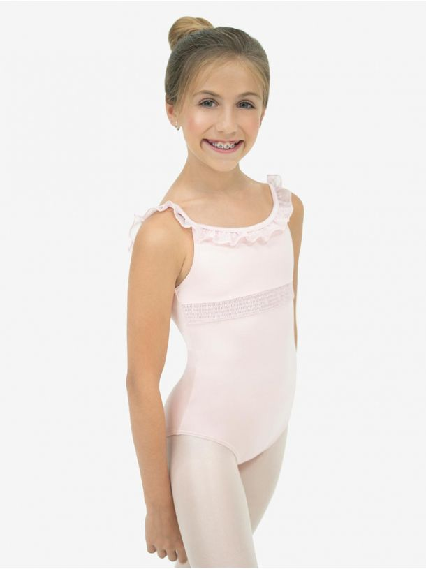 SMOCKING V BACK CAMSOLE LEOTARD