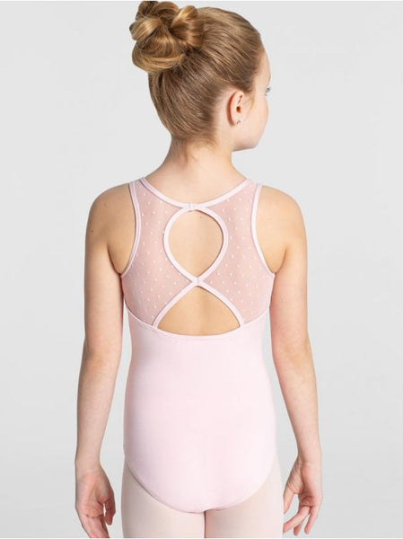 RAGLAN SWISS DOT MESH TANK LEOTARD