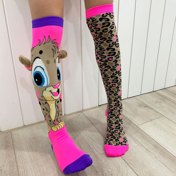 MADMIA CHEEKY CHEETAH KNEE HIGH SOCKS