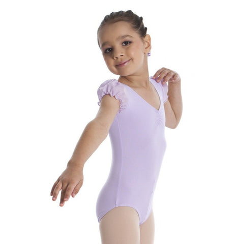 GLITTER PUFF SLEEVE LEOTARD