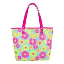SEQUIN DAISY BEACH BAG