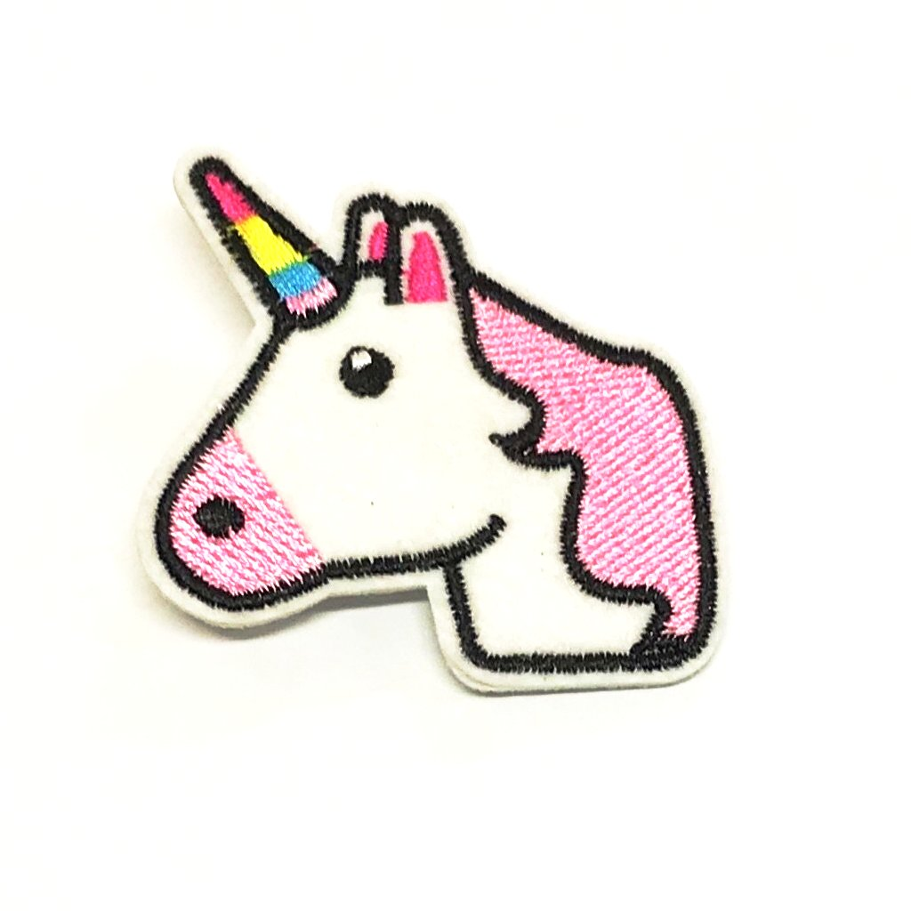 RAINBOW AND UNICORN PATCH HAIR CLIP