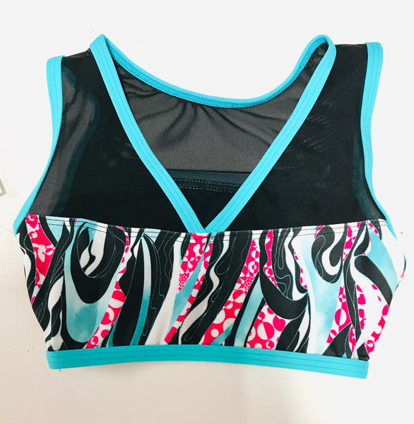 CROP TOP WITH MESH INSERT (CHILDS)