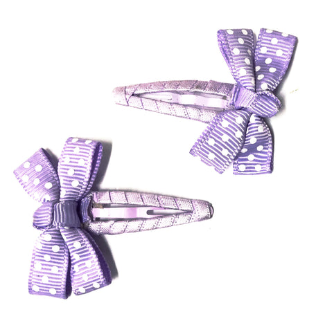 SPOT BOW WITH RIBBON WRAP