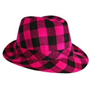 CHECKERBOARD FEDORA PARTY HAT