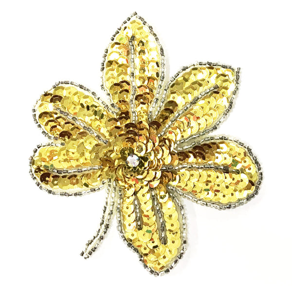 SMALL LEAF FLOWER SEQUIN MOTIF